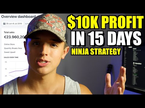 How I Made My Student $10,000 Profit Dropshipping in 15 Days (Shopify 2019 Strategies) thumbnail