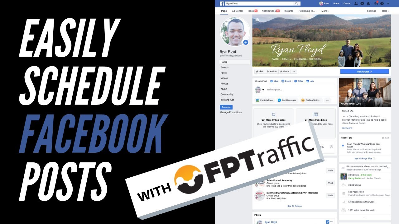 Easily Schedule Facebook Posts With FPTraffic