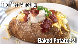 The Best Steakhouse Stỳle Baked Potato | The Carefree Kitchen