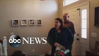 Couple keeps pregnancy a secret for 9 months, surprises grandma
