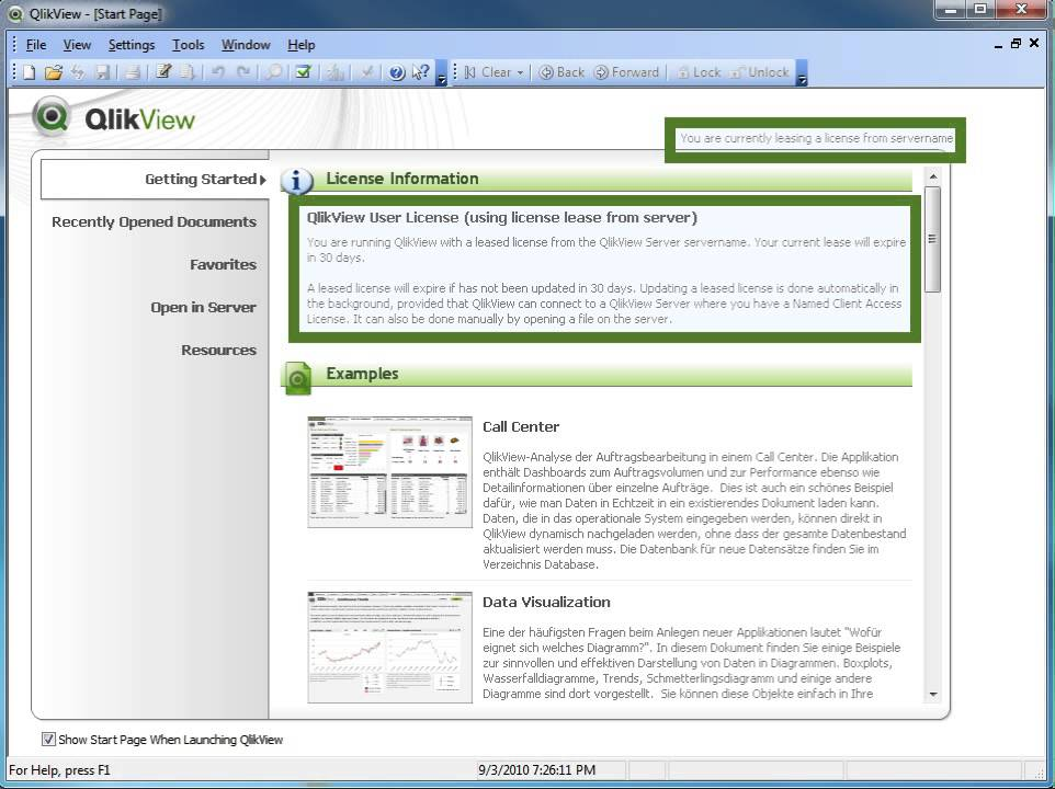 QlikView - How to lease a license key