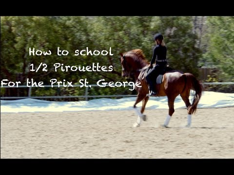 Practicing for the 1/2 Pirouettes in the Prix St. George