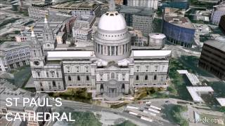 http://bit.ly/18z1kfr - St Paul's Cathedral - Google Earth