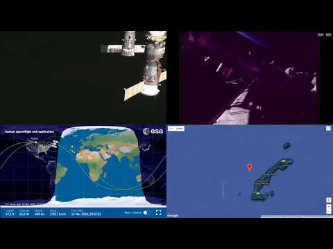 Sunrise Over North Atlantic And America - NASA/ESA ISS Space Station Livestream With Map - 29
