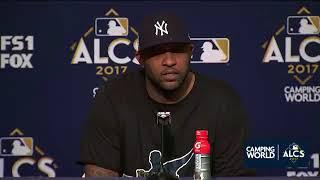 CC Sabathia Postgame Interview   Yankees vs Astros Game 3 ALCS