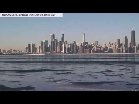Lake Michigan Ice From Chicago Crib NOAA WebCam