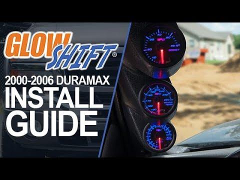 7 Color Series Triple Gauge Package for 2000-2006 GMC Sierra Duramax