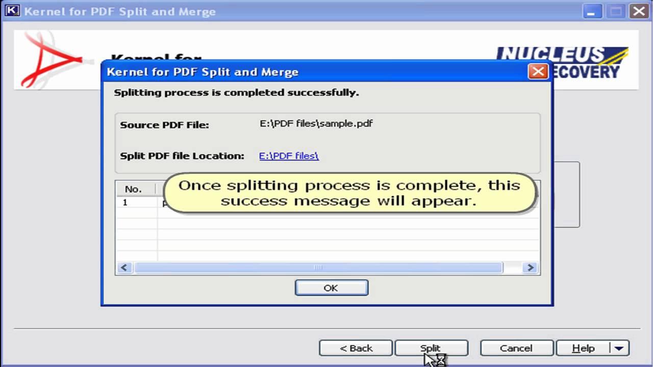 Split Large PDF File and Merge Multiple PDF Using Kernel for PDF ...