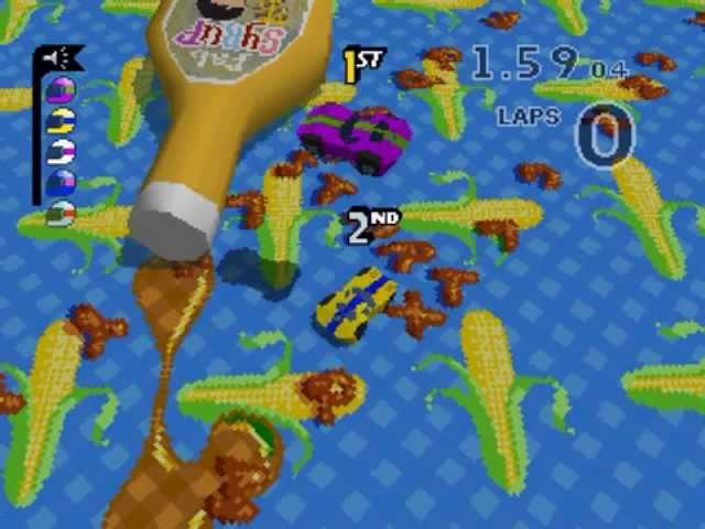Micro Machines V3 Walkthrough/Gameplay PSone HD