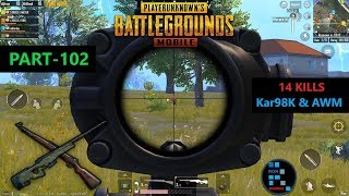 "PUBG MOBILE | RON IS INSANE ""14 KILLS"" WITH Kar98K & AWM 2400+ DAMAGE IN WAR MODE"