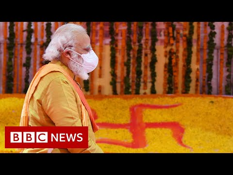 India PM Modi leads temple rituals at divisive holy site