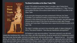 The slave trade brought unimaginable destruction and suffering even to Africans that werent enslaved