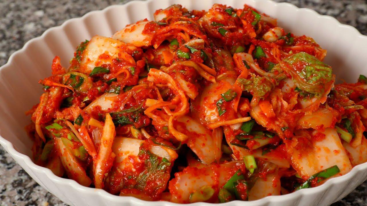 Kimchi (Vegetarian version) - YouTube