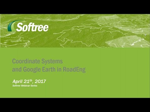 Working with Coordinate Systems and Google Earth in RoadEng