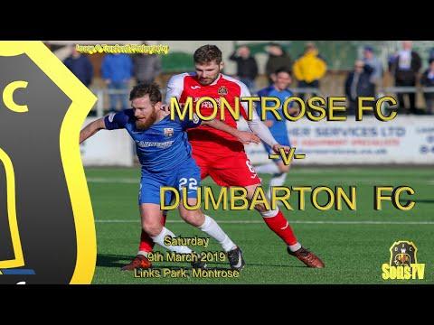 Montrose FC v Dumbarton FC, Sat 9th March 2019