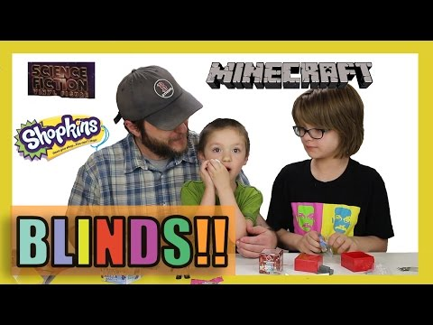 Opening Surprise Blinds! (Minion Vlog) Minecraft, Shopkins, Science Fiction - Day 999 | ActOutGames