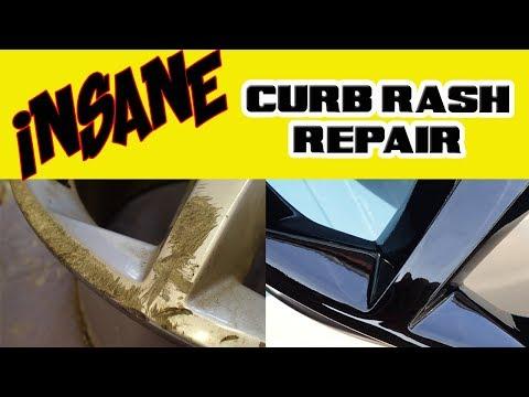Insane Curb Rash Alloy Wheel  Refurbish - RESTORATION