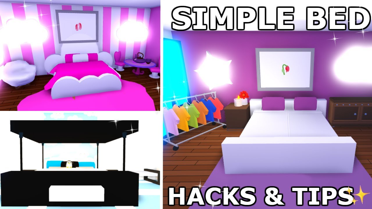 Simple & Easy Bedroom Building HACKS & TIPS In ADOPT ME ...