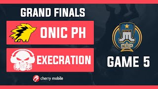 Just ML Cup GrandFinals Execration vs Onic PH Game 5 (BO5) | Just ML Mobile Legends