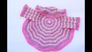 Patrones de abrigos tejidos a crochet para niña