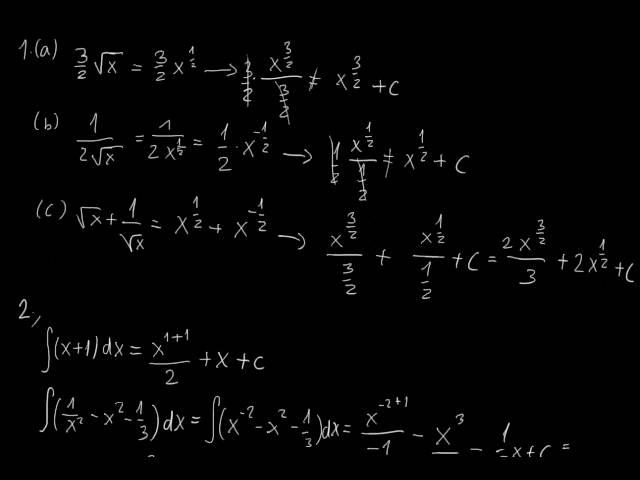 Primitív függvények - Megoldások [1. rész]