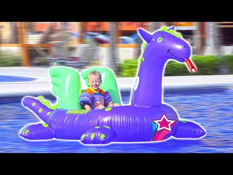 BEST HUGE Inflatable EVER Max Riding Waves and Having Fun in Mexico Family Vacation Travel Trip