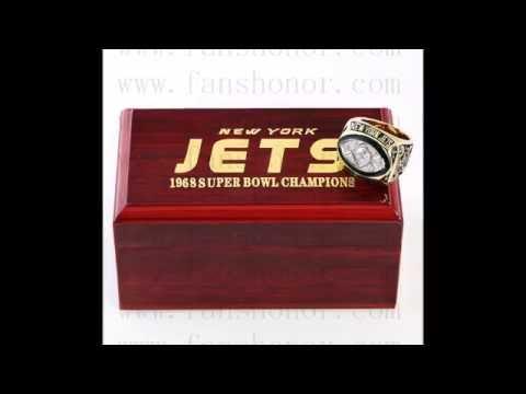 Custom NFL 1968 Super Bowl III New York Jets Championship Ring