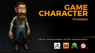 GAME CHARACTER TIMELAPSE | ZBRUSH, MARVELOUS DESIGNER, 3DCOAT and SUBSTANCE PAINTER
