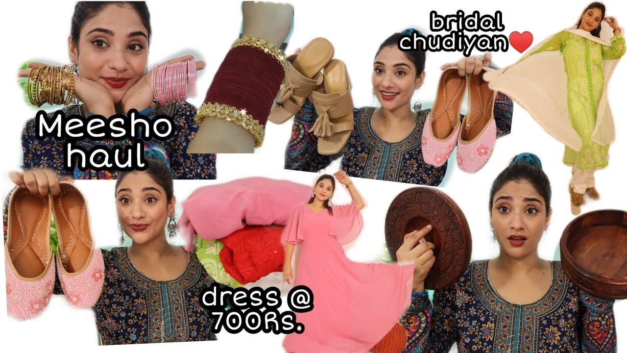 * Huge* Meesho haul || bridal bangles, suit ,heels, jewellery, dupattas Much more😮
