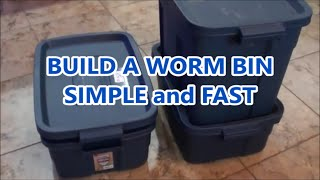 How To Make A Worm Bin Worm Composting At Home Made Easy