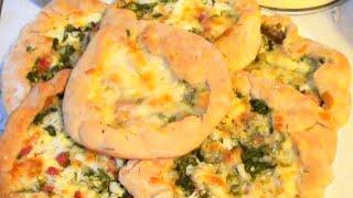 Хачапури с сыром в духовке. Сырные лепешки. видео рецепт