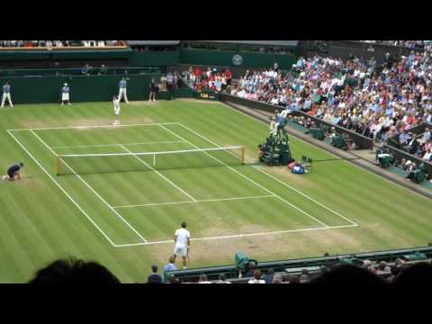 Court side view of Murray vs Pospisil Wimbledon 2015