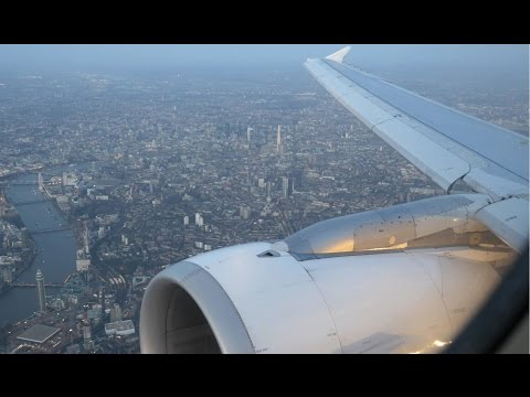 (4K) Swiss Airbus A320 flight video, Geneva to Heathrow - Business Class Experience - LX348