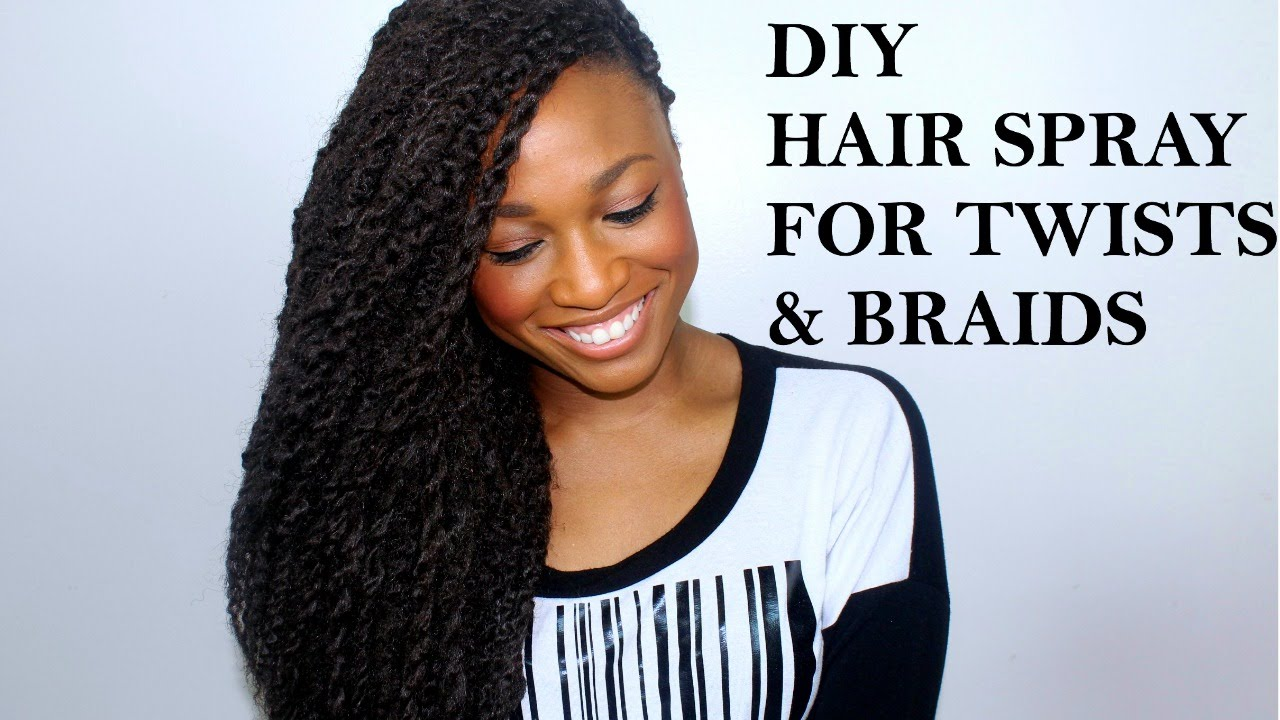 DIY MOISTURIZING HAIR SPRAY | TWISTS | BRAIDS | PROTECTIVE STYLES FOR NATURAL HAIR - YouTube