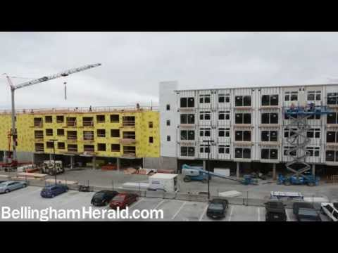 Construction of downtown Bellingham apartments