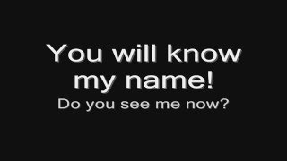 Arch Enemy - You Will Know My Name (lyrics) HD