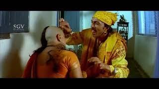 Sudeep fooled Aunty in Swamiji Getup Comedy | Hilarious Kannada Comedy Scenes | Veera Madakari