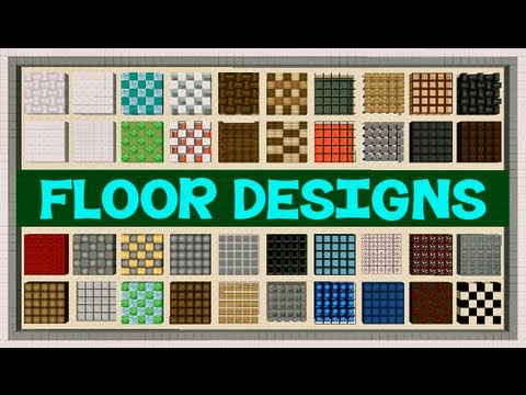 Minecraft: Floor Designs - YouTube