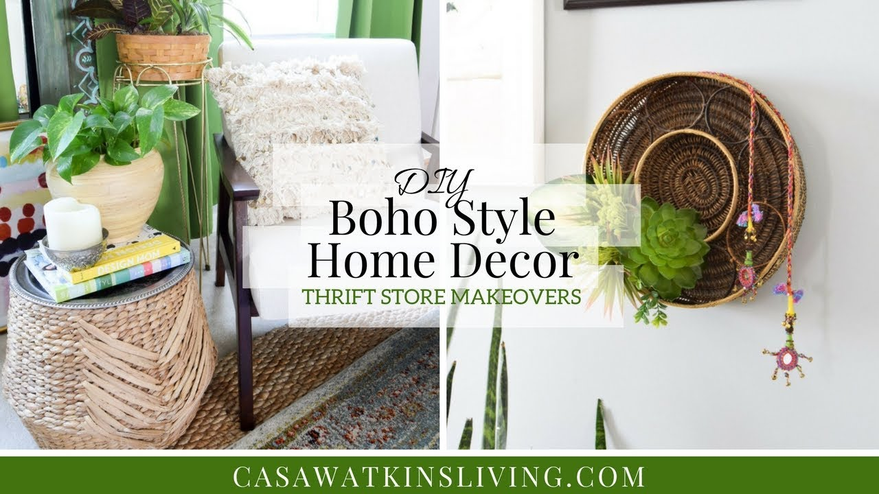 Diy boho style home decor thrift store makeovers youtube - How to decorate my home ...