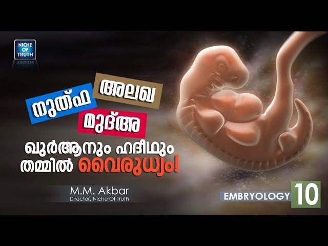 നുത്ഫ, അലഖ, മുദ്അ: ഖുർആനും ഹദീഥും തമ്മിൽ വൈരുധ്യം! Embryology Series-11 | MM Akbar