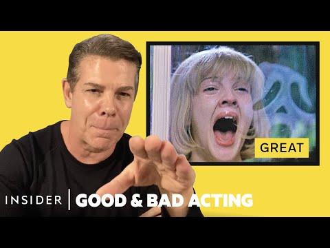 Pro Acting Coach Breaks Down 13 Horror Scream Scenes   Good & Bad Acting