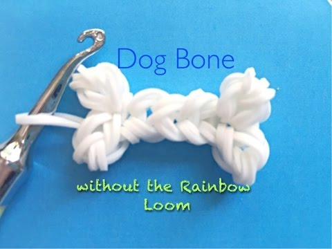 EASY Dog Bone Charms WITHOUT the Rainbow Loom