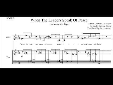 Di Ruscio/Brecht: When The Leaders Speak Of Peace
