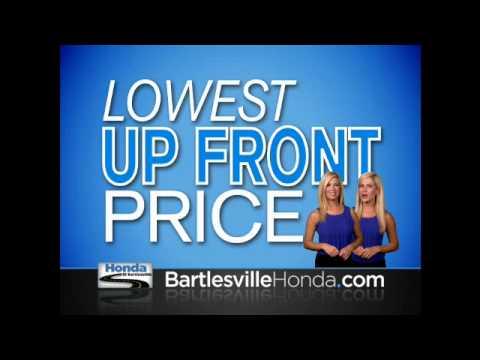Up-Front, One-Click at Bartlesville Honda dot Com