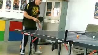 盘锦乒乓球教练  反手台内暴挑    多球回合训练 高清