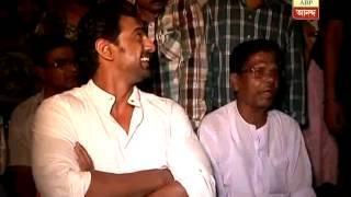 TMC candidate Deb starts campaign and visits his village home at Mahishda
