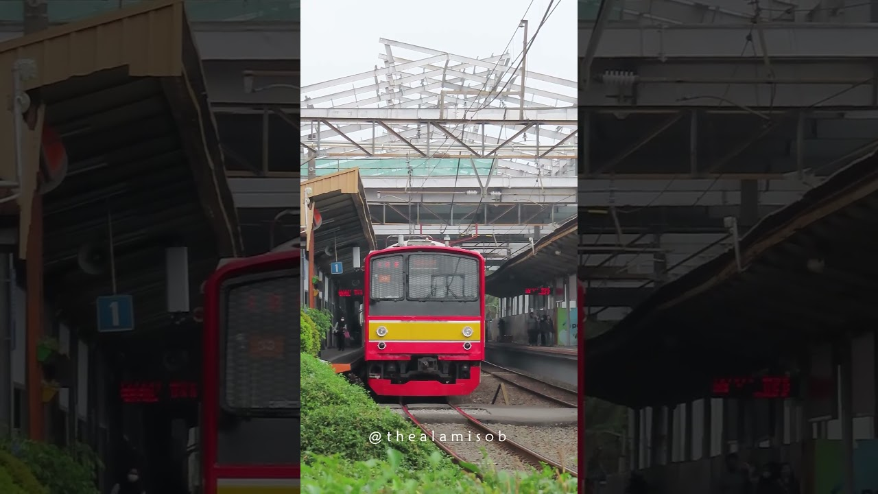 Kereta Listrik KRL Commuter Line JR 205  Berangkat dari Stasiun Pondok Cina DEPOK #Shorts