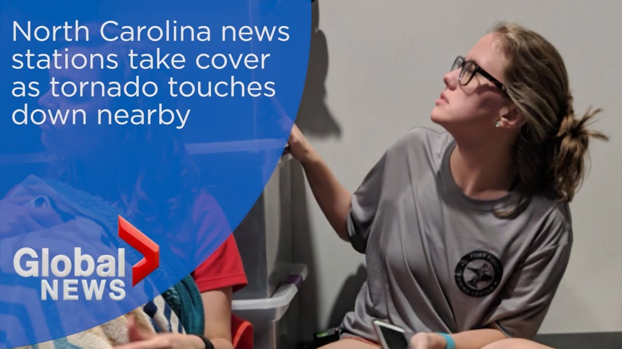 Hurricane Florence: North Carolina news stations take cover as tornado touches down