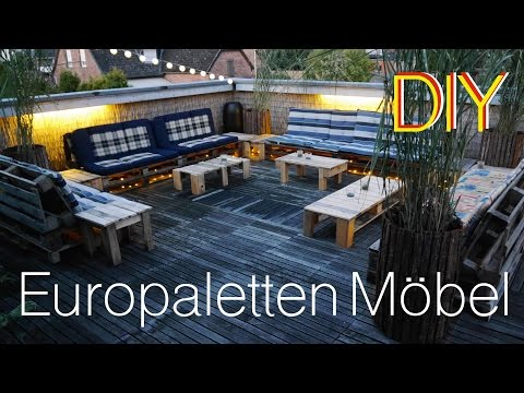 Terrassen Lounge aus Europaletten How to