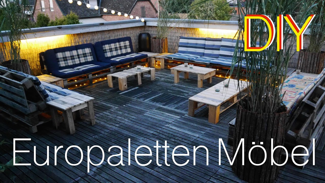 terrassen lounge aus europaletten how to - youtube